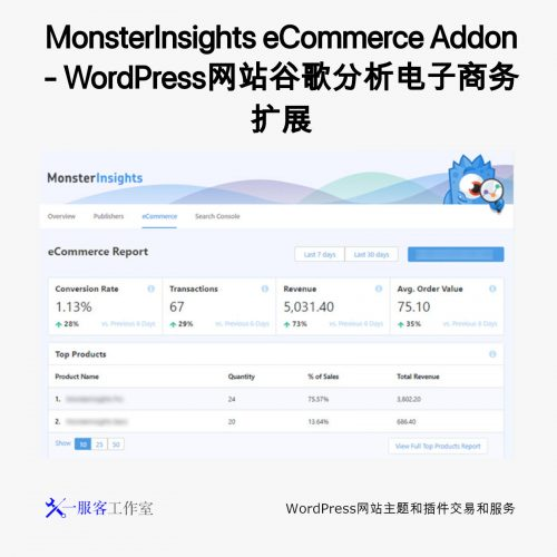 MonsterInsights eCommerce Addon - WordPress网站谷歌分析电子商务扩展