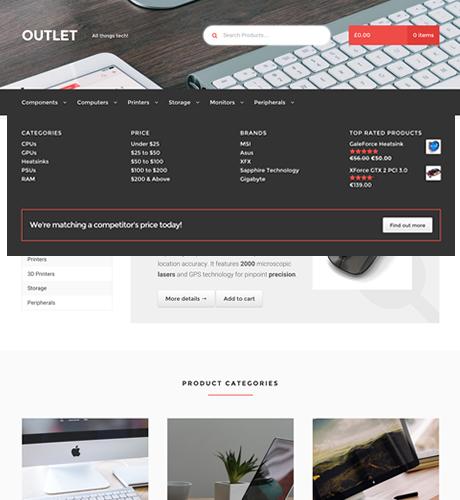WooCommerce Storefront Mega Menus 电商网站超级菜单