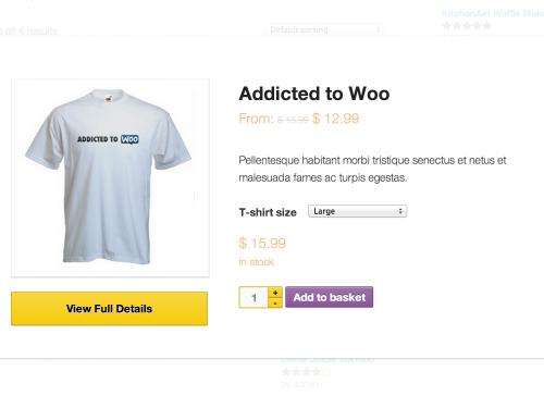 WooCommerce Quick View 电商产品快速查看