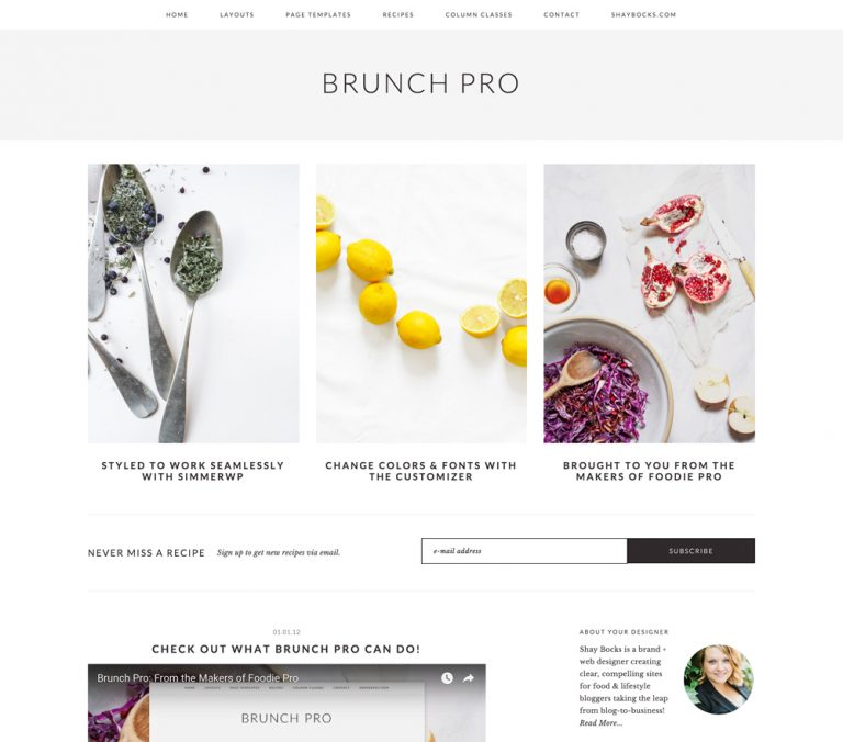StudioPress Brunch Pro Genesis WordPress 主题