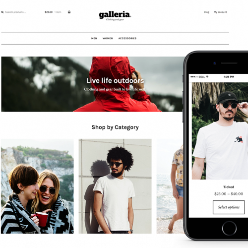 WooCommerce Galleria Storefront Child Theme