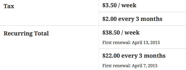 multiple subscription totals