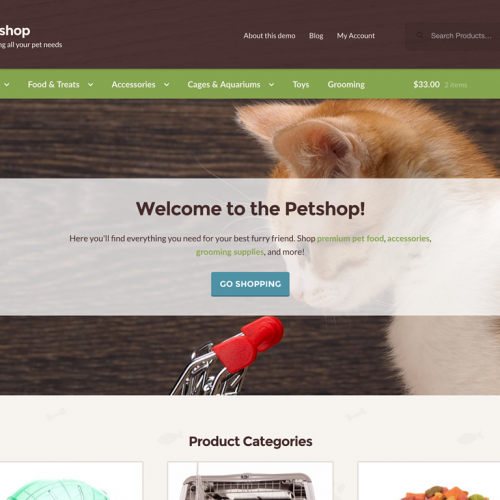WooCommerce Petshop Storefront Child Theme