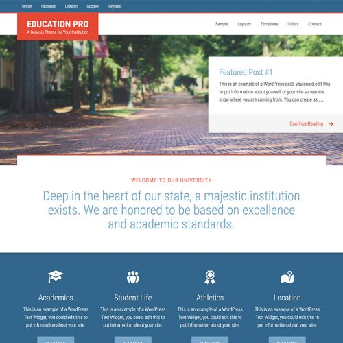 Education Pro WordPress Genesis主题