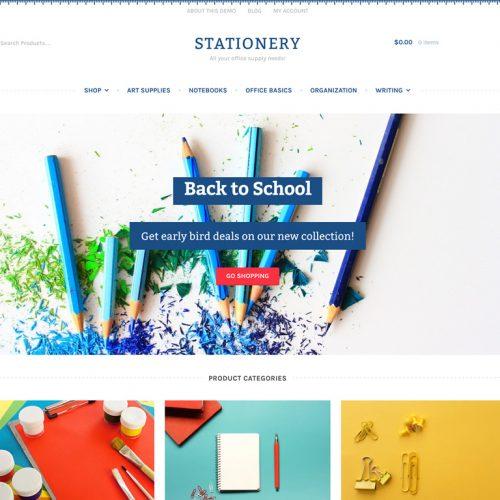 Storefront Stationery | 办公用品 工艺品 商城主题