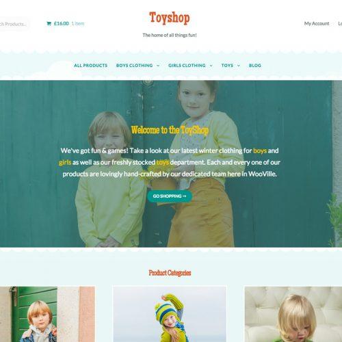Storefront Toyshop | 鲜花店 玩具商店 电子商务主题