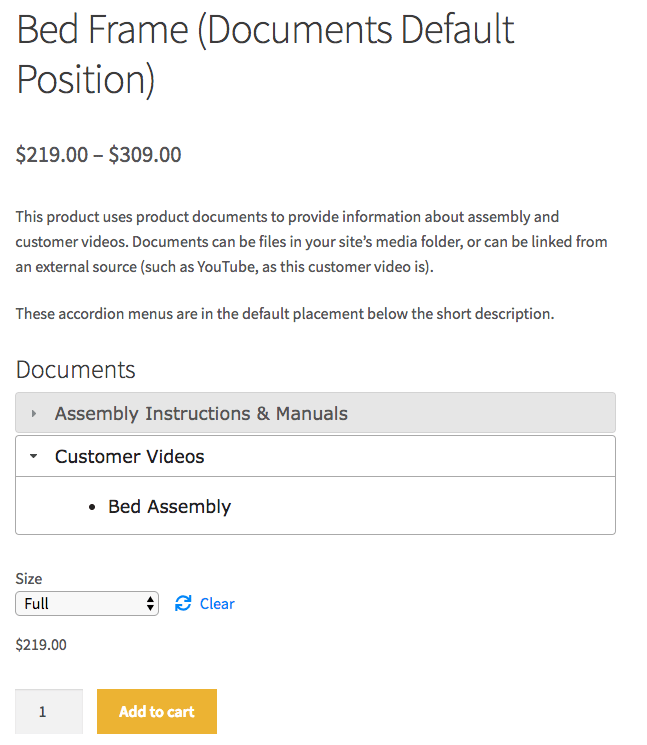 WooCommerce产品文档前端