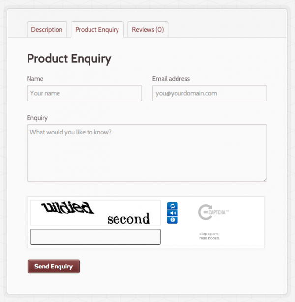 WooCommerce Product Enquiry Form 电商产品询价表