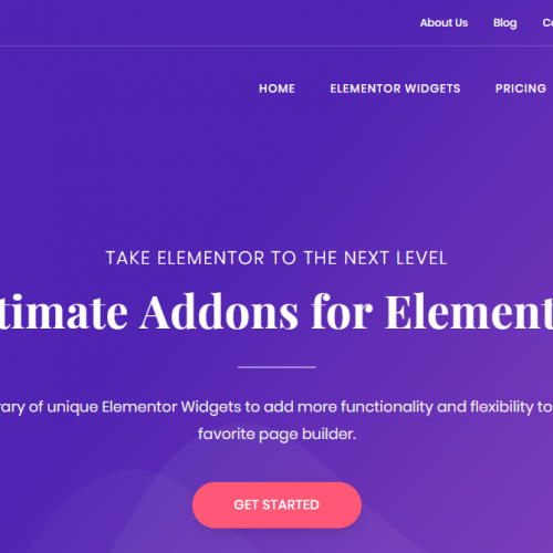 可视化网页生成器Elementor终极插件 ULTIMATE ADDONS FOR ELEMENTOR
