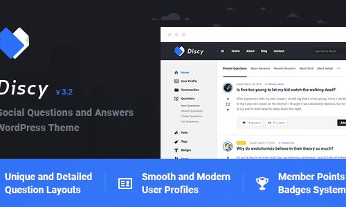 Discy WordPress 主题是一个令人惊叹、专业且灵活的社交问题和问答社区WordPress主题,专门为在线社区、利基问答网站、营销网站、开发人员网站或任何类型的社交社区而设计。