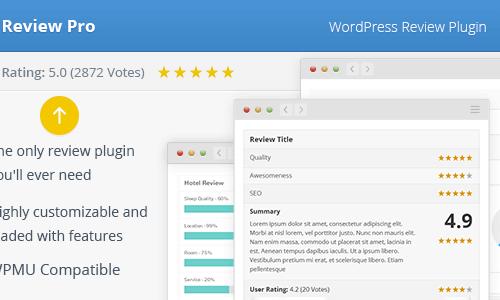 WordPress评测插件 Wp Review Pro