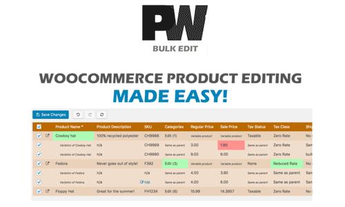 PW WooCommerce Bulk Edit Pro 电商网站批量编辑专业版