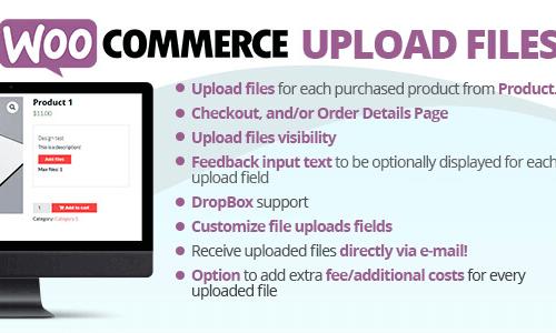 电商系统上传文件 Woocommerce Upload Files