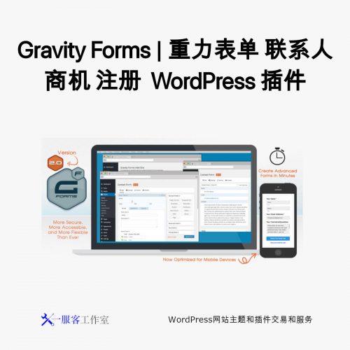 Gravity Forms | 重力表单 联系人 商机 注册 WordPress 插件
