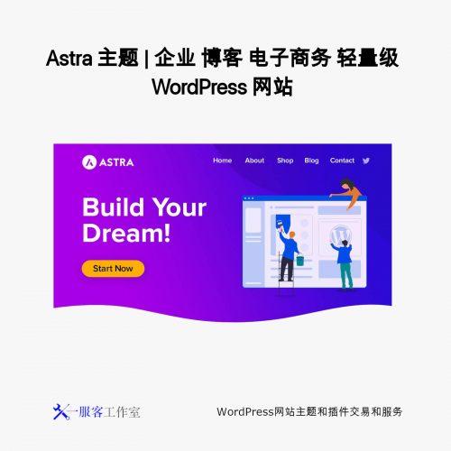 Astra 主题 | 企业 博客 电子商务 轻量级 WordPress 网站
