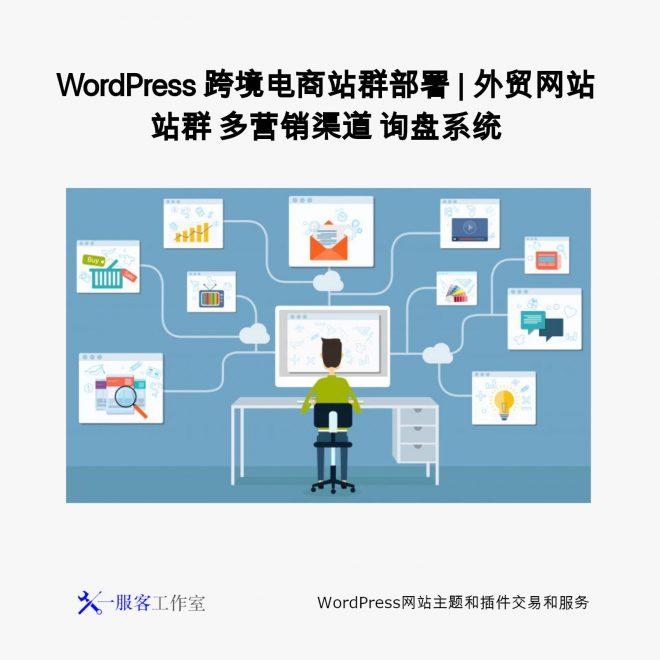 WordPress 跨境电商站群部署   外贸网站站群 多营销渠道 询盘系统