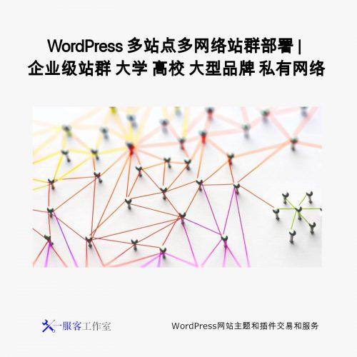 WordPress 多站点多网络站群部署 | 企业级站群 大学 高校 大型品牌 私有网络