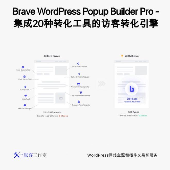 Brave WordPress Popup Builder Pro - 集成20种转化工具的访客转化引擎