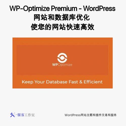 WP-Optimize Premium - WordPress网站和数据库优化 使您的网站快速高效