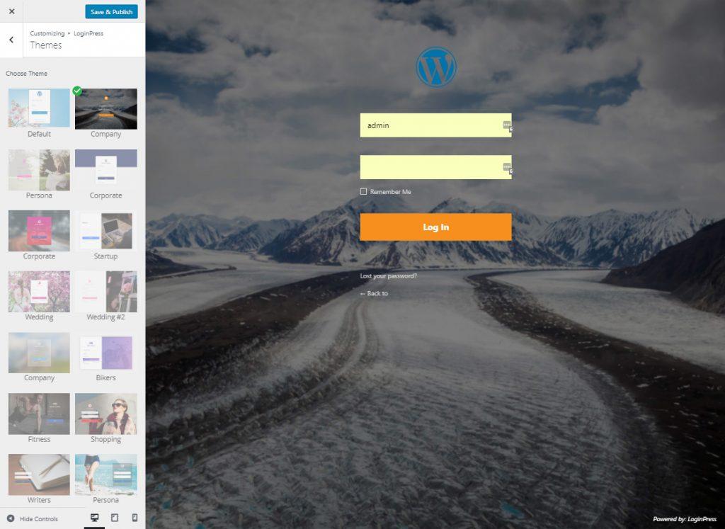 LoginPress Pro | WordPress 自定义登录页面定制插件