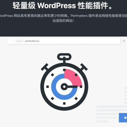 Perfmatters | 轻量级 WordPress 优化插件