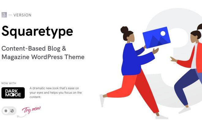 Squaretype主题   基于内容的现代博客和杂志WordPress主题