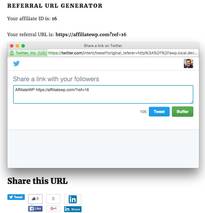 共享网络都收到附属公司创建的新共享 URL,并附加了他们的推荐链接