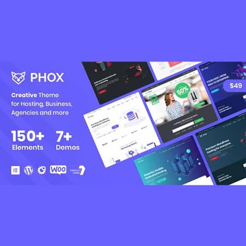 Phox Hosting WordPress 和 WHMCS 主题是托管公司的完美解决方案。 Phox 主题使您能够使用易于使用的拖放页面构建器创建外观独特的网站。