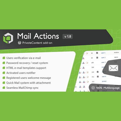 PrivateContent Mail Actions Addon 1.8.3 邮件操作扩展